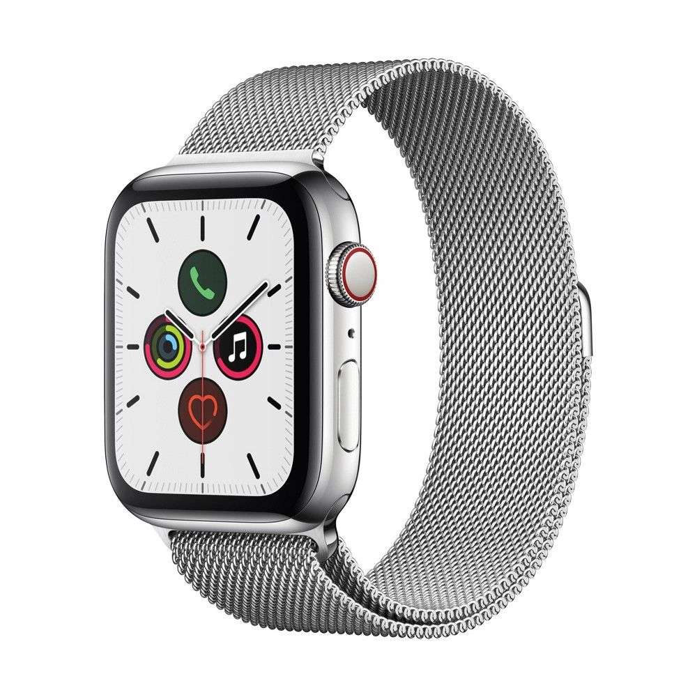 Apple Watch Series 5 GPS + Cellular, 44mm Stainless Steel