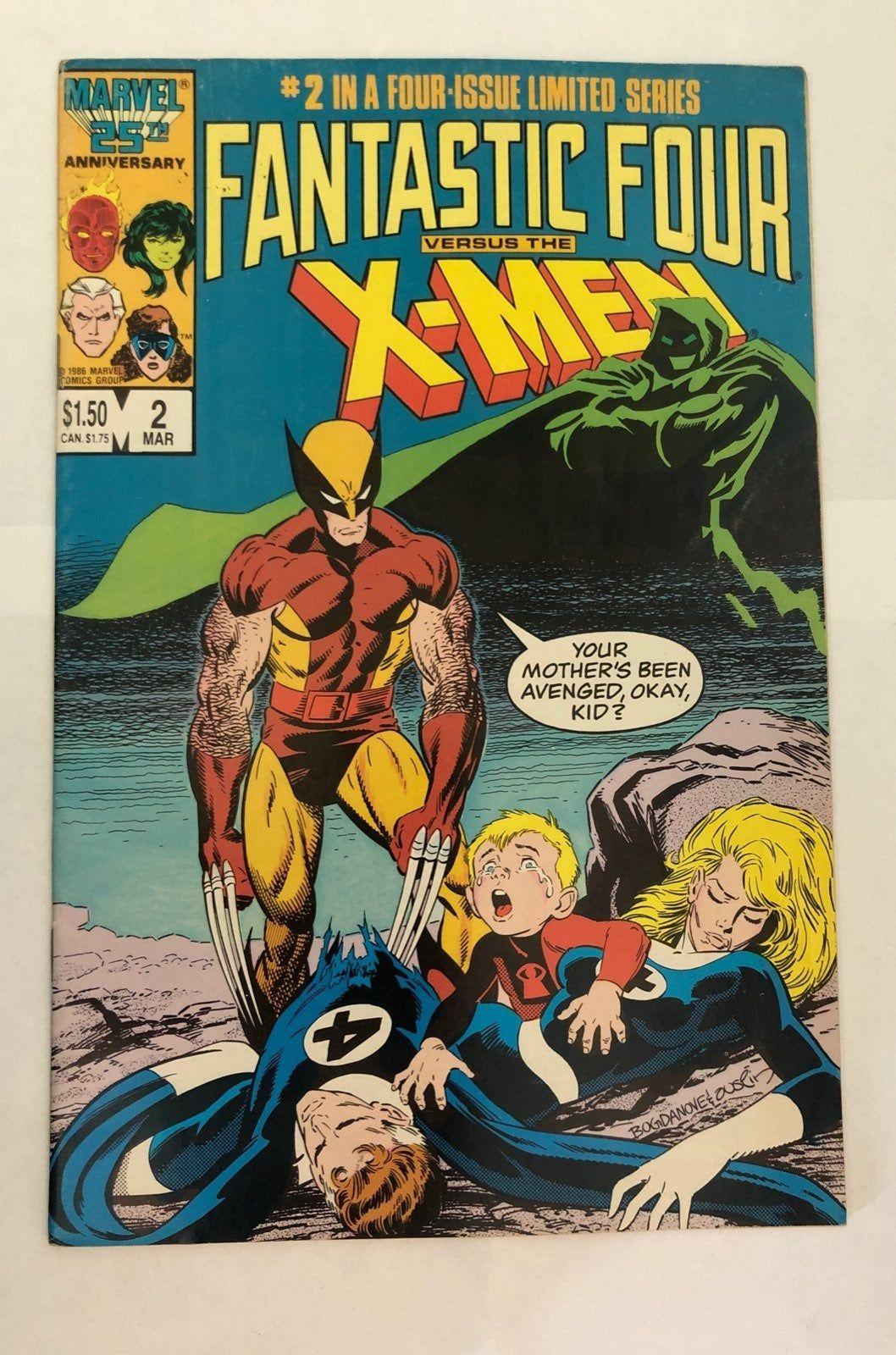 Fantastic Four Vs The X Men 2 Mercari In 2020 Classic Comic Books Fantastic Four Comics Classic Comics