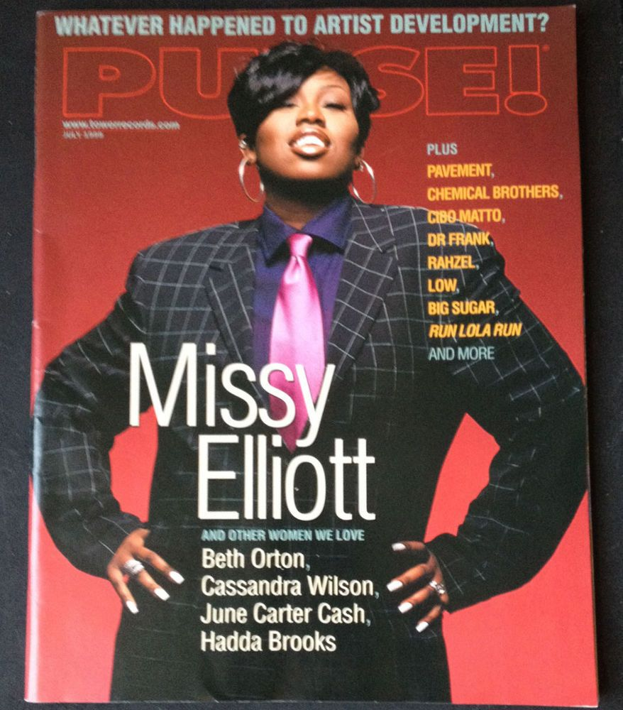 Missy Elliott PULSE Magazine Cover July 1999 Hip Hop Rap Pavement ...