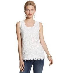 Lace Tank #chicos