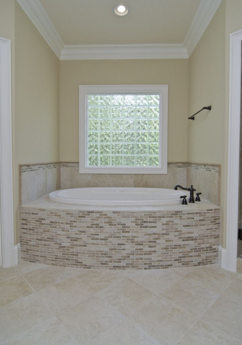 Beautiful Tile Work For This Gorgeous Garden Tub Tub Tile