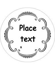 Free Avery Templates Martha Whimsical Wedding Border Round Labels 12 Per Sheet