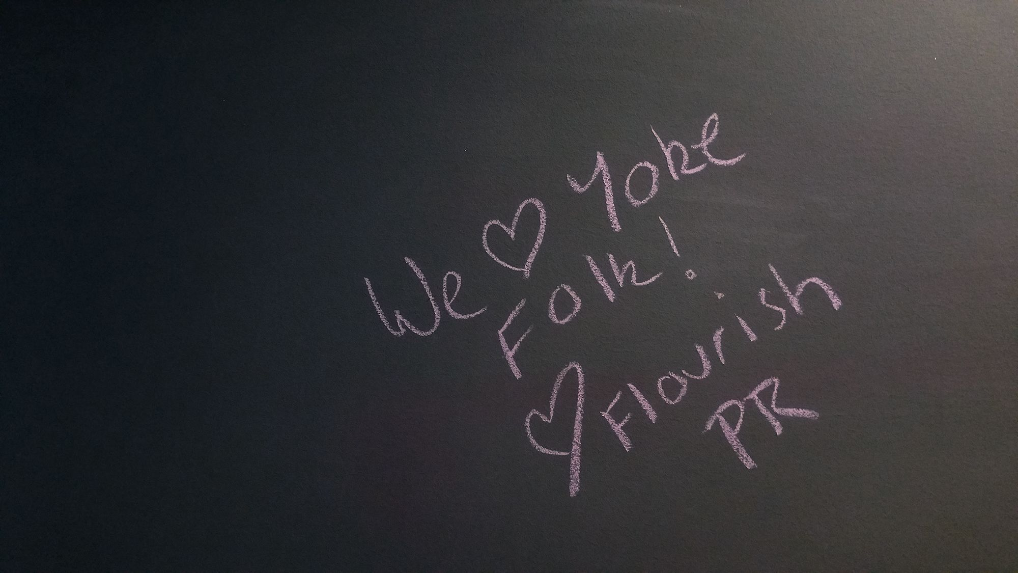 Found this written on our bathroom wall. Happy belated Valentine's Day to us!