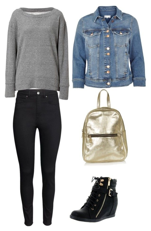 """""""Summer night - Movie night"""" by beefashionable on Polyvore featuring Mode, River Island, Top Moda, Topshop, H&M, Current/Elliott, women's clothing, women, female und woman"""