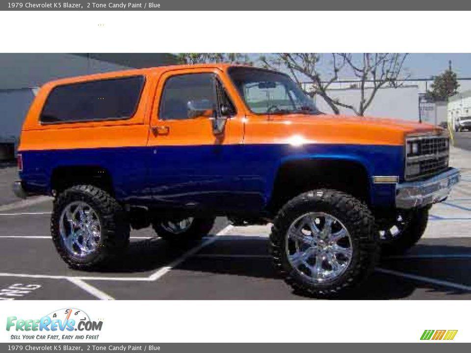 Two Tone Truck Paint Schemes Chevy 1979 Chevrolet K5 Blazer 2 Tone Candy Paint Blue Classic Chevy Trucks Chevy K5 Blazer