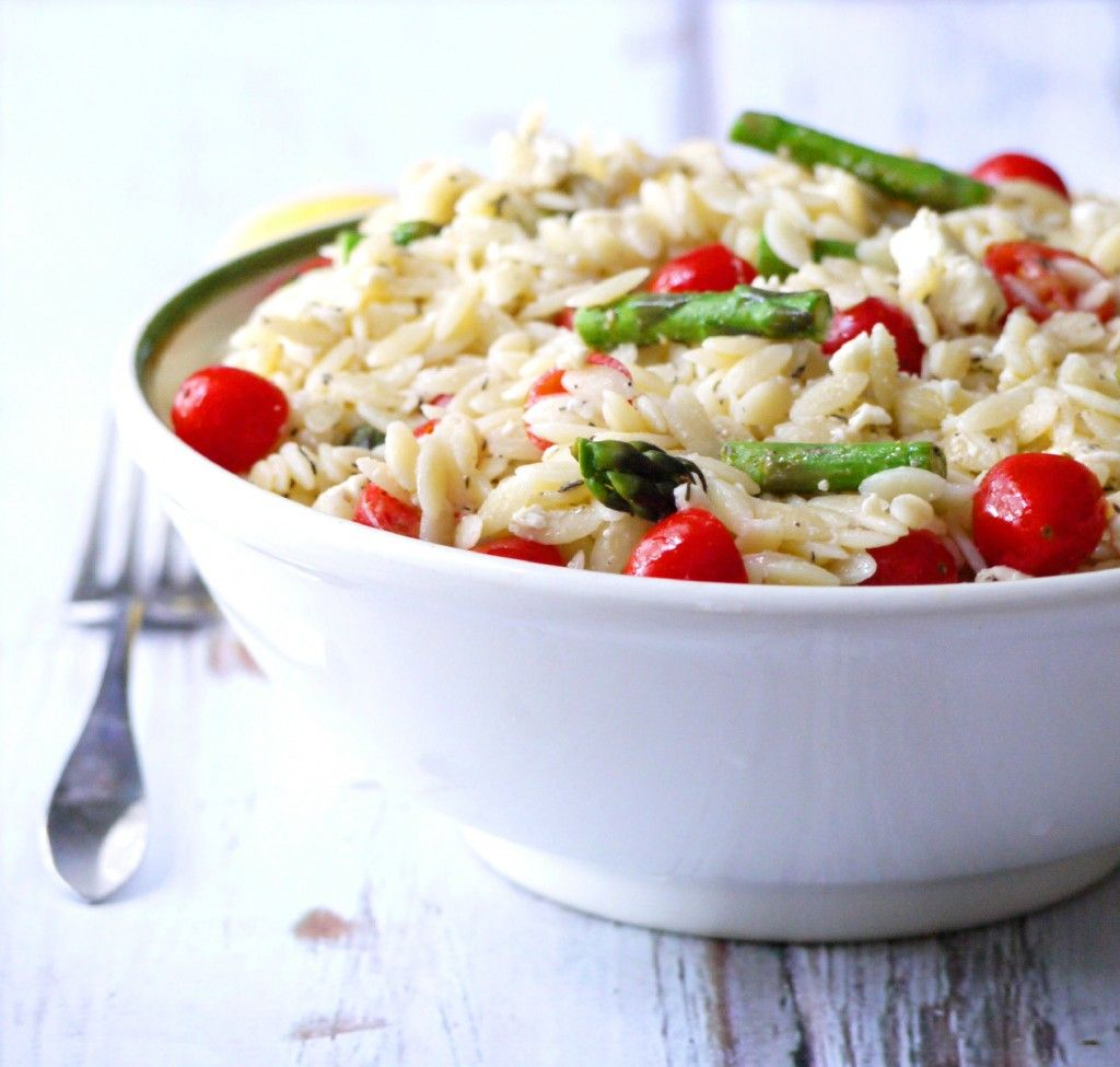 Summer Orzo Salad with Asparagus, Cherry Tomatoes and Feta ...