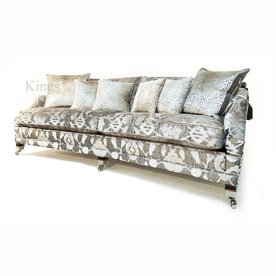 Couch Depth duresta hornblower 3 seater sofa in vivaldi argento fabric. sofa