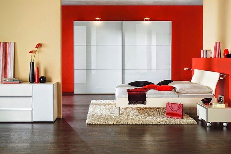 petite chambre blanc et rouge   Idées pour la maison   Pinterest ...