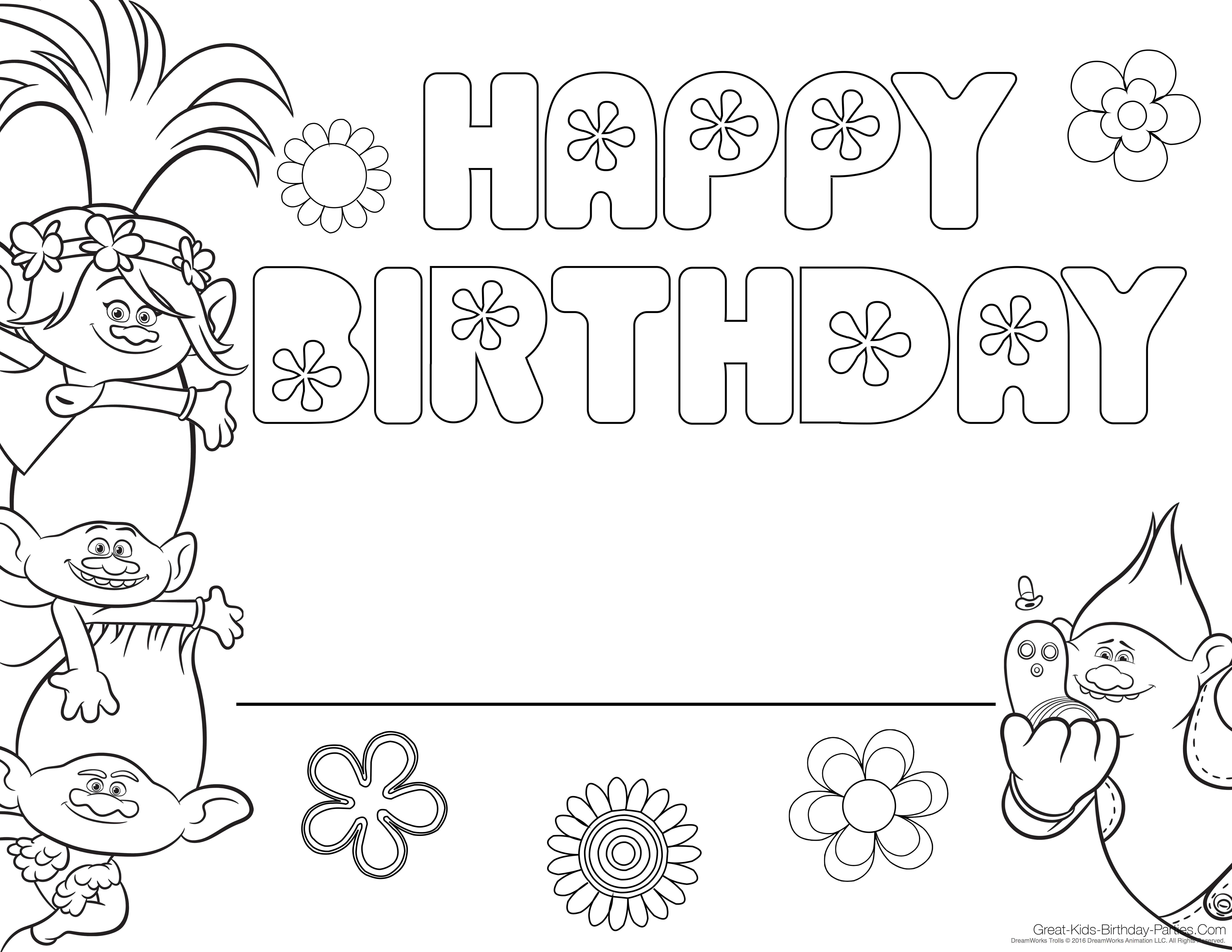 trolls-coloring-page.jpg 6,600×5,100 pixels | birthday ideal for ...
