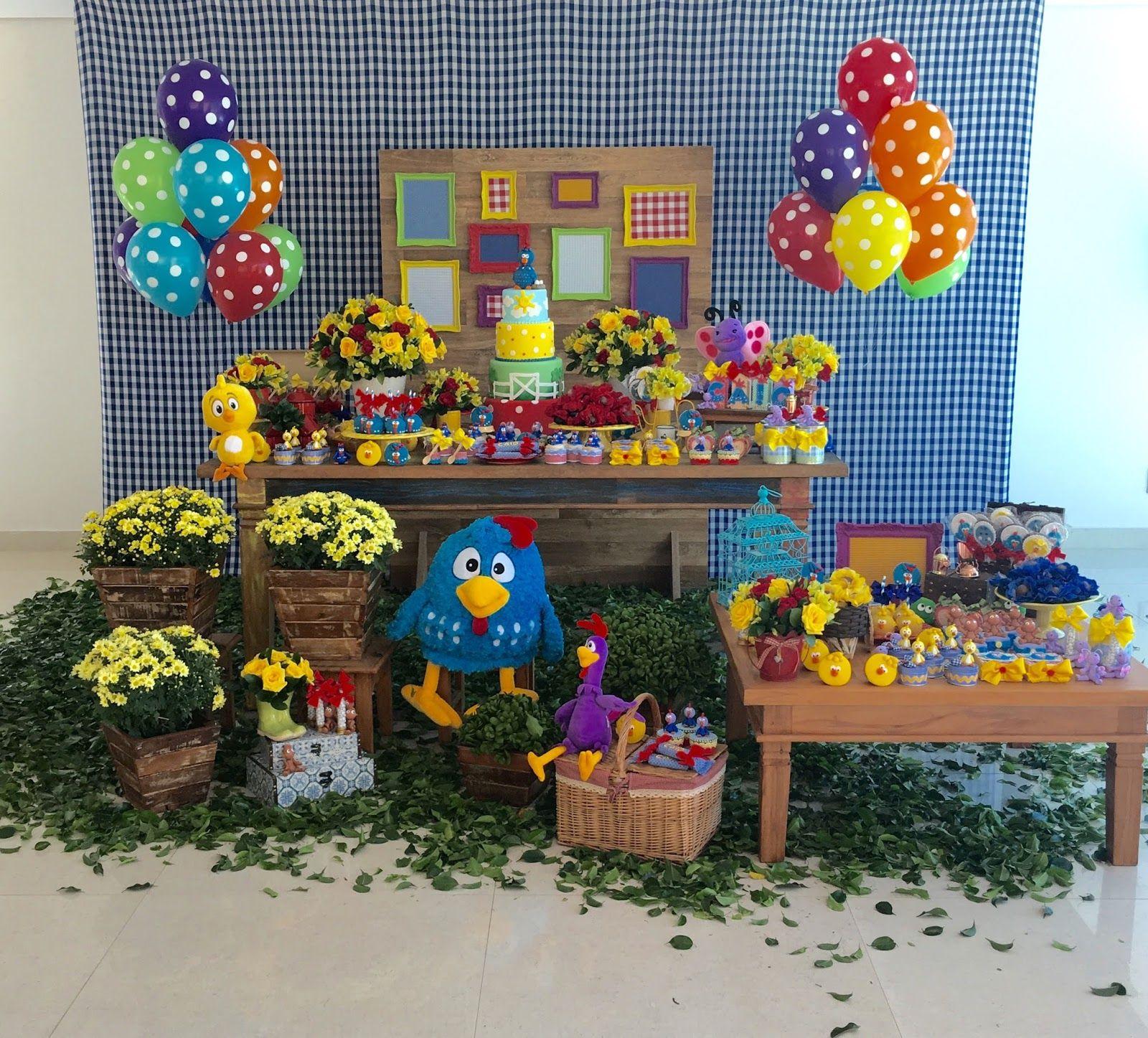 Galinha Pintadinha Buffet de doces Aniversário galinha pintadinha, Galinha pintadinha e  -> Decoração De Festa Infantil Da Galinha Pintadinha Rosa