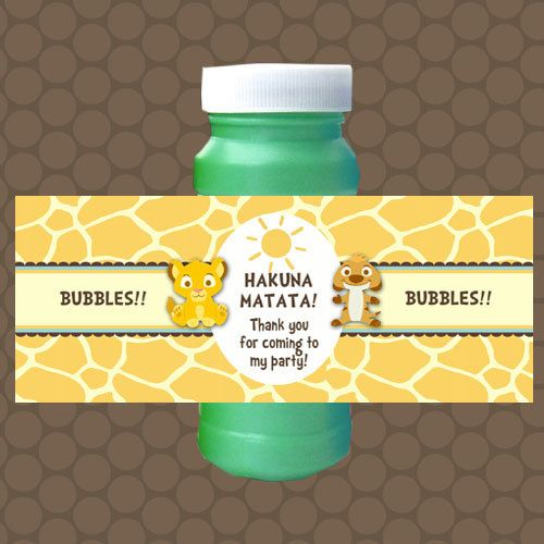 Baby lion king bubble labels wrappers stickers birthday favors printable uprint digital diy instant download lions favors and birthdays