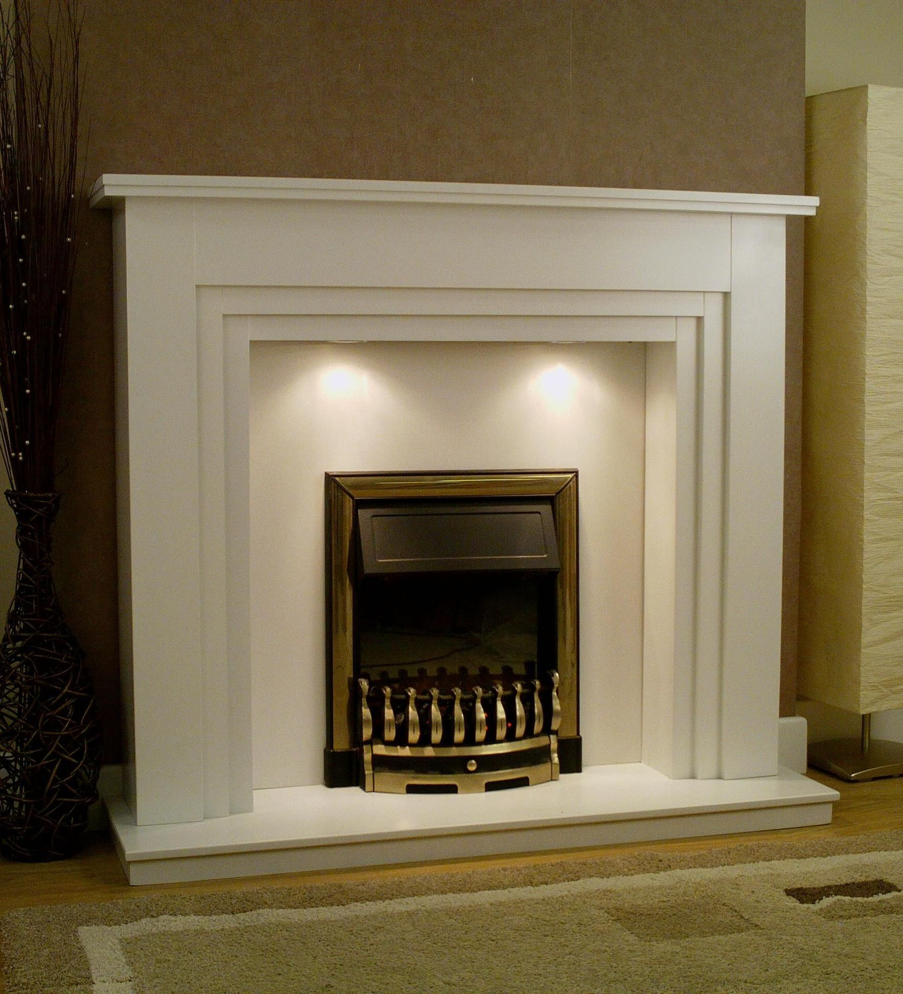 axon apollo 54 wooden fireplace surround with down lights option