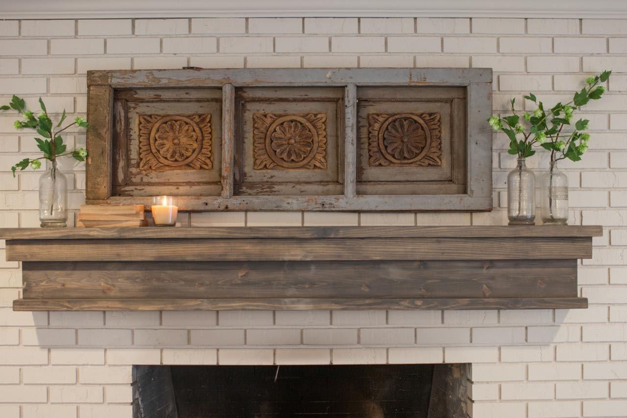 Diy rustic fireplace mantel faux fireplace mantels