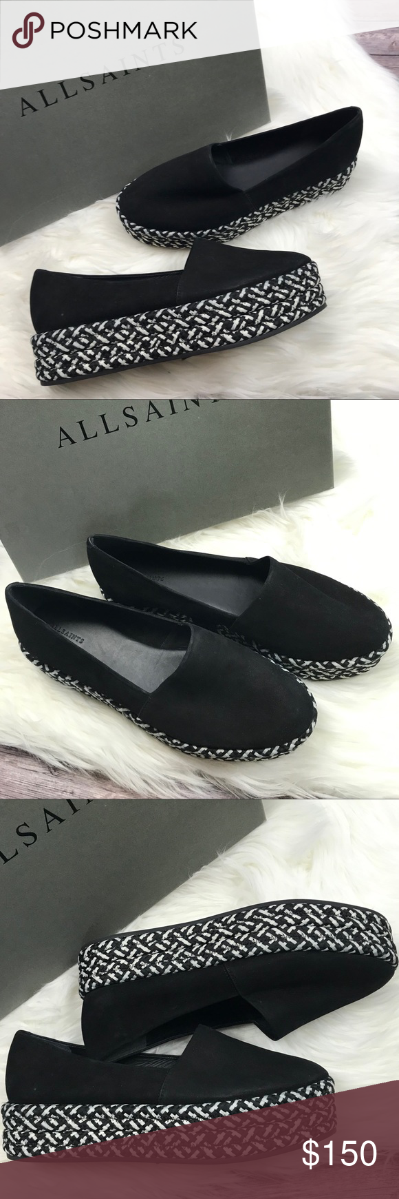 68cad683deae Allsaints Bora Platform Loafers 41 Black New in Box Allsaints Bota Platform  Loafers. Size 41