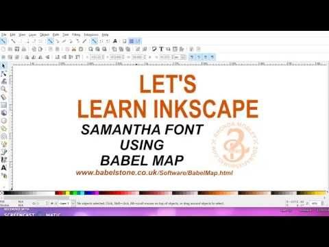 21 - Samantha font. Babel map - YouTube