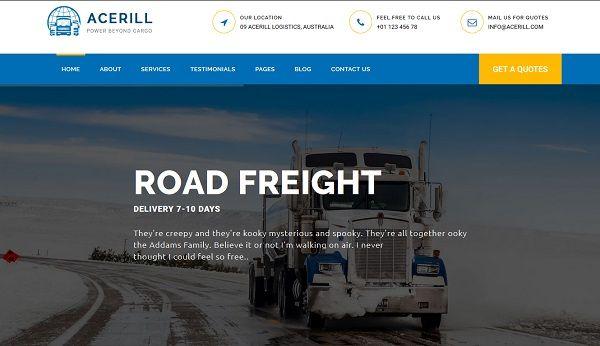 Templates Wp sobre Negocios Sobre Transporte & Logística Acceril ...