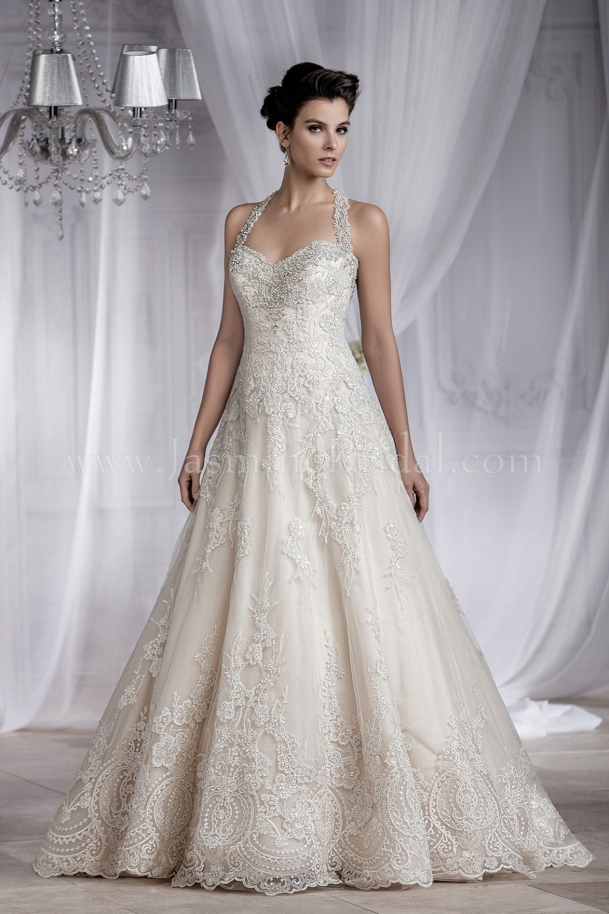 Jasmine bridal couture style t182064 in vintage fall for Jasmine couture wedding dress