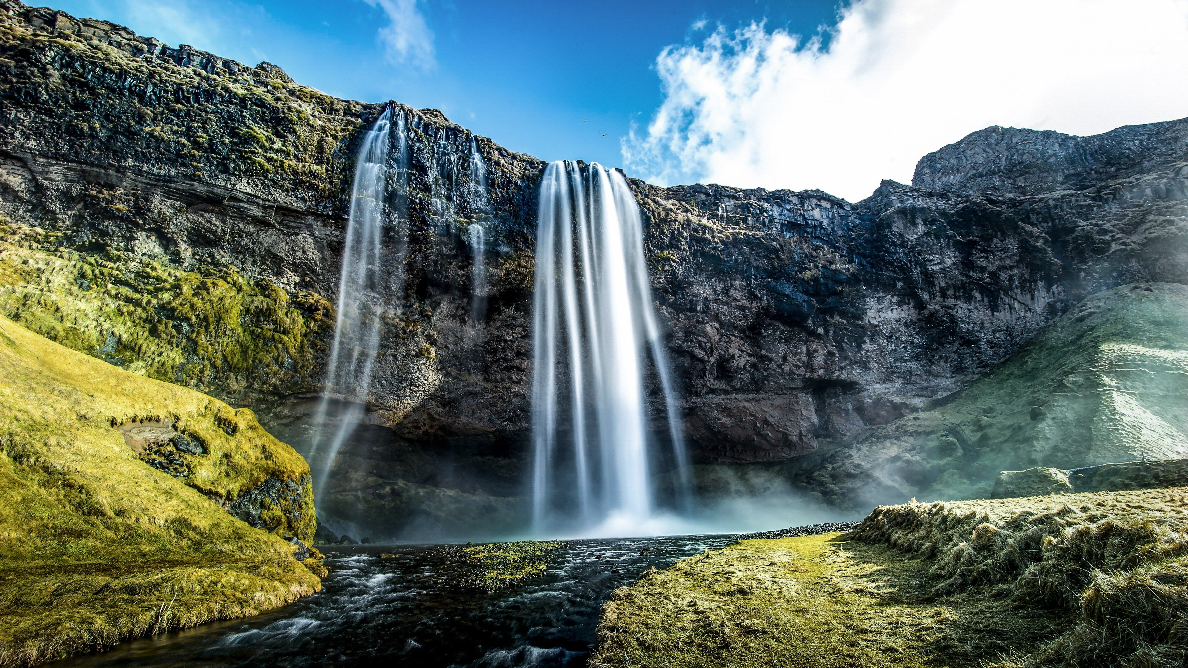 4k High Resolution Mac Wallpaper 3840x2160 Seljalandsfoss Waterfall Iceland Landscape Waterfall
