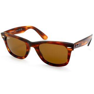 Ray-Ban Unisex RB2140 Original Wayfarer Light Tortoise Sunglasses ... 60c3094689