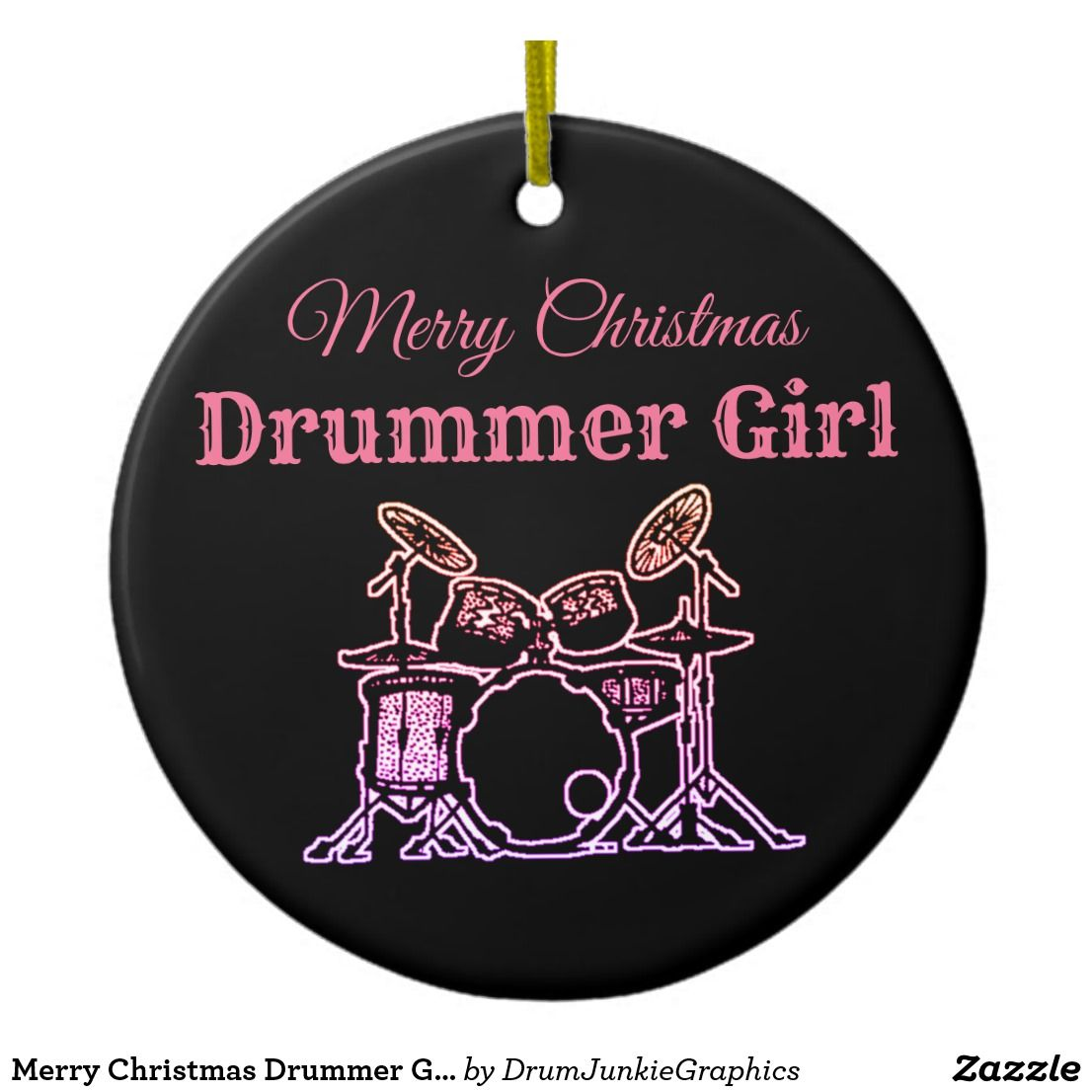 Christmas Drummer.Merry Christmas Drummer Girl Drum Ornament Snare Zazzle