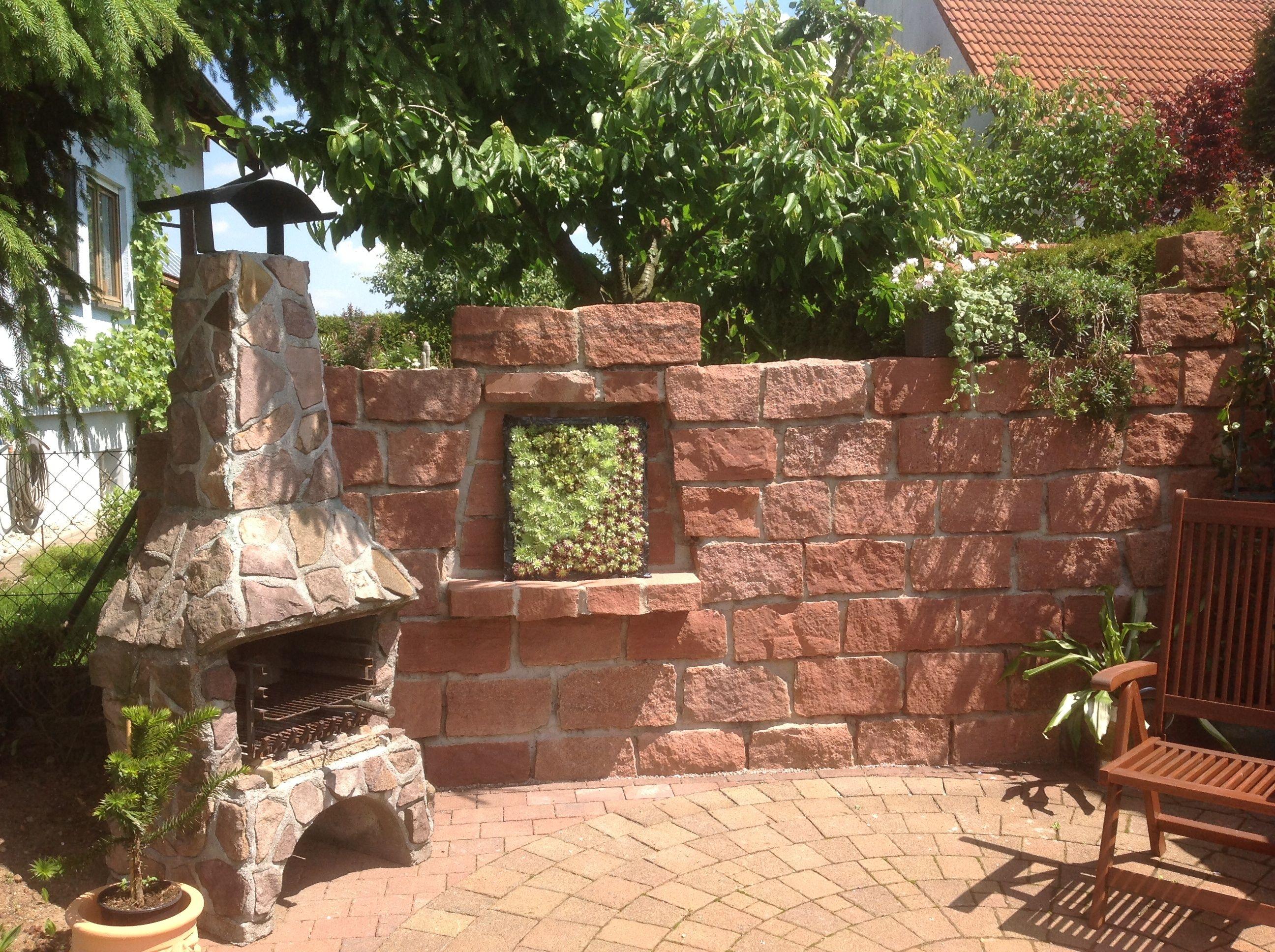 Grillplatz mit Sukkulentenbild   Traumgarten, Garten ...