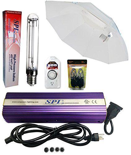 Spl Horticulture 400 Watt Grow Light Digital Dimmable Hps Mh System For Plants Horizontal Umbrella Reflector Set 400w Grow Lights Grow Light Fixture Reflectors