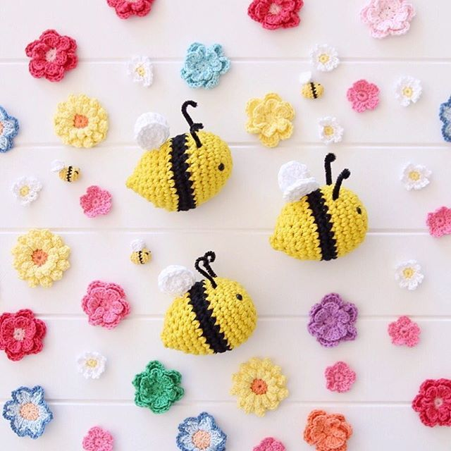 Amigurumi Crochet Bee Pattern Crocheted Pinterest Crochet Bee