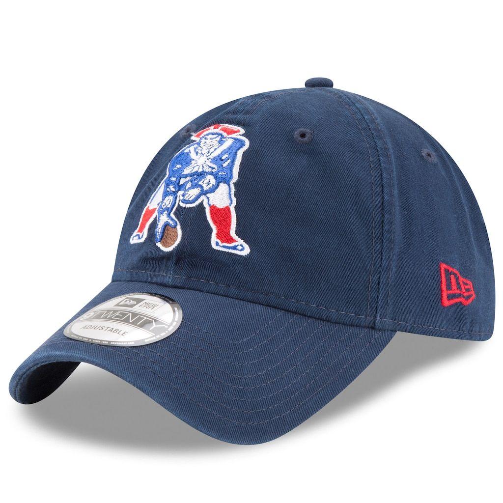 online retailer 3e90f ce00a Adult New Era New England Patriots 9TWENTY Core Adjustable Cap, Bluecc