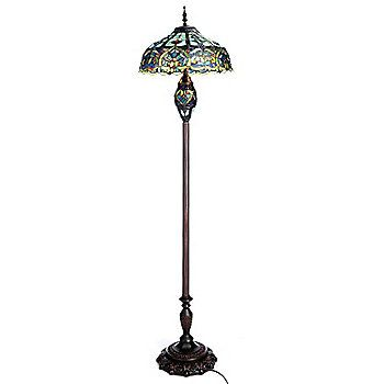 "Tiffany Floor Lamp Extraordinary Tiffanystyle 64"" Webbed Heart Double Lit Stained Glass Floor Lamp Inspiration"