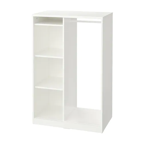 Largeur 50 99 Cm Ikea Open Wardrobe Glass Shelves In Bathroom Glass Cabinet Doors