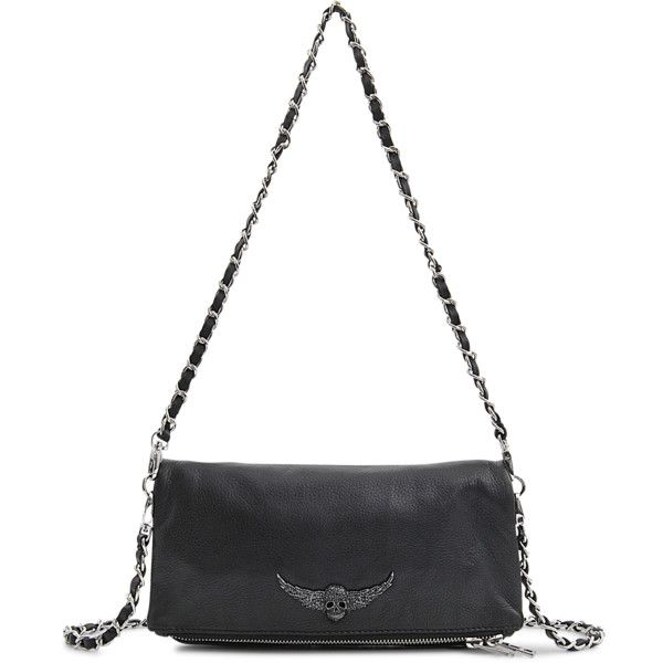Zadig & Voltaire Rock clutch (2 450 SEK) ❤ liked on Polyvore featuring bags, handbags, clutches, black, zipper flap purse, flap purse, zadig voltaire handbag, zipper purse and rock purses