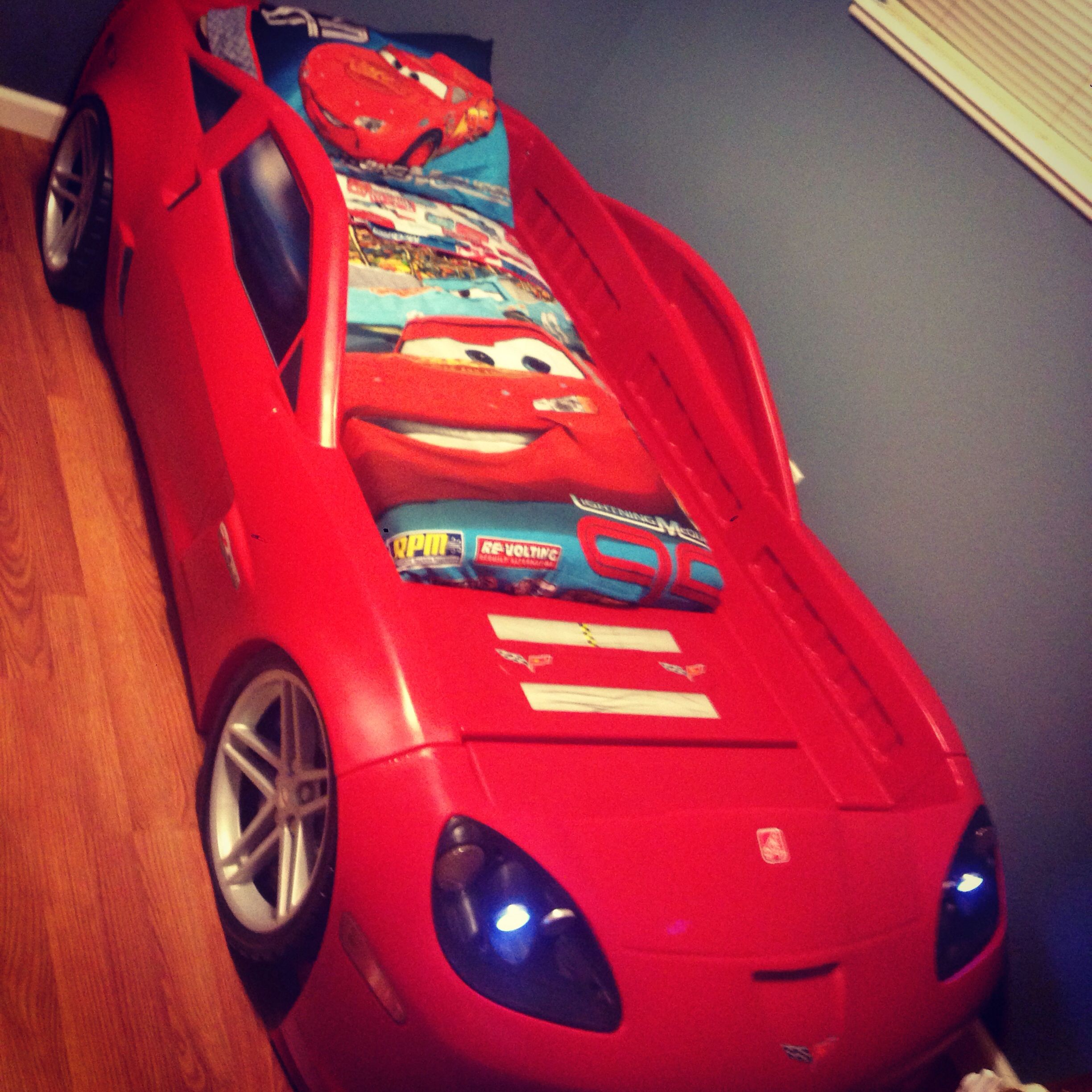 My Sons New Corvette Bed :)