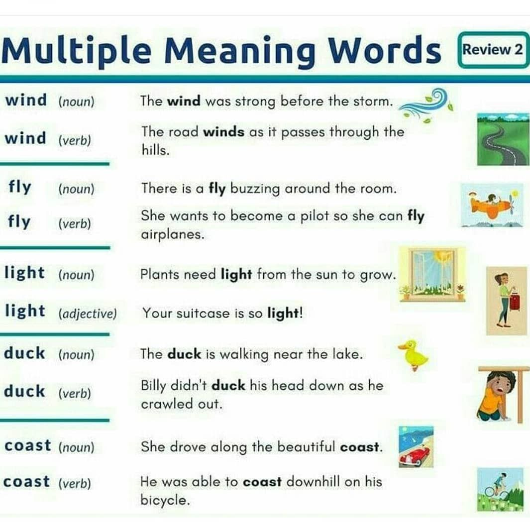 Multiple Meaning Words Get More Information By The