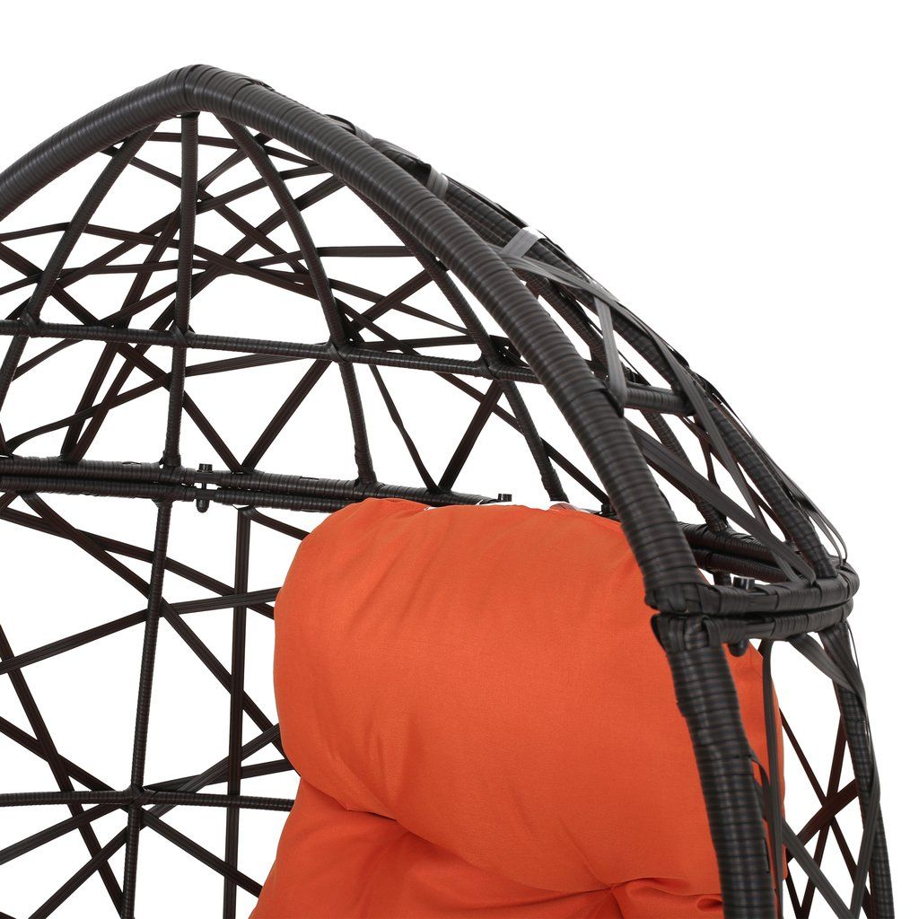 Kyahna indoor wicker egg chair with cushion in 2020