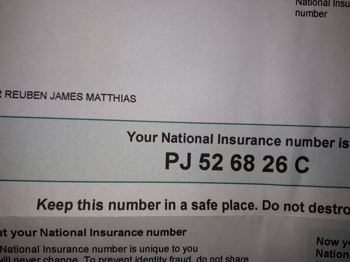 Pin by Jackie Matthias on docs National insurance number