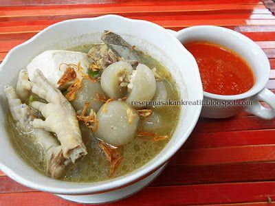 Resep Cilok Goang Kuah Kaldu Tulang Pedas Isi Ayam Makanan