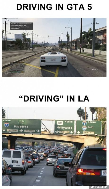 As Someone Who Lives In Los Angeles This Is Why I Love Driving In Gta 5 Gta Gta Logic Gta 5