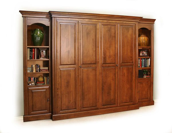 Built In Murphy Bed With Side Piers With Images Murphy Bed