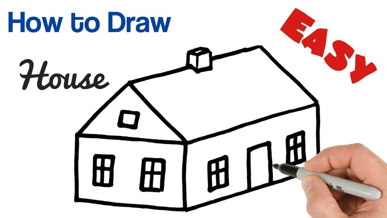 How To Draw House Easy Art Tutorial For Beginners House