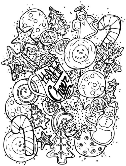Happy Holidays Snowmen Snowman Coloring Pages Christmas Coloring Pages Family Coloring Pages