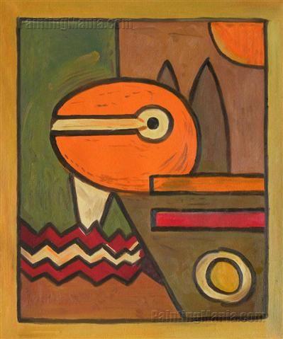 PAUL KLEE IN STYLE OF KAIROUAN 1914 OLD MASTER FRAMED ART PRINT MOUNT B12X1472