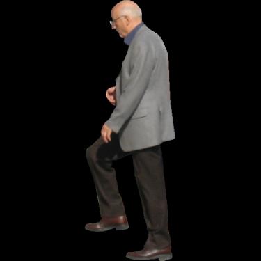 Old Man Walking Up Stairs People Cutout Render People People Png