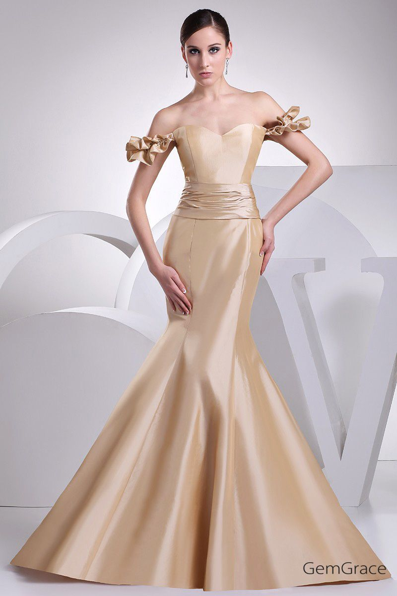 Sexy off shoulder body fitted mermaid formal dress op