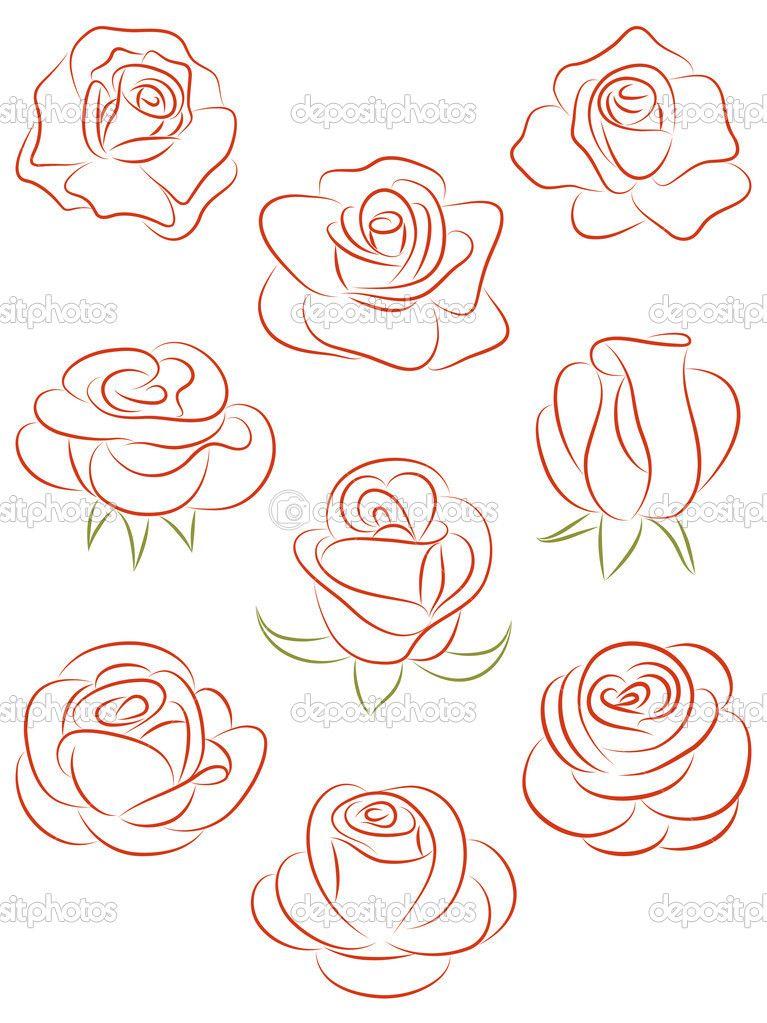 rose zeichnen tattoo ideen zeichnen aquarell und malerei. Black Bedroom Furniture Sets. Home Design Ideas