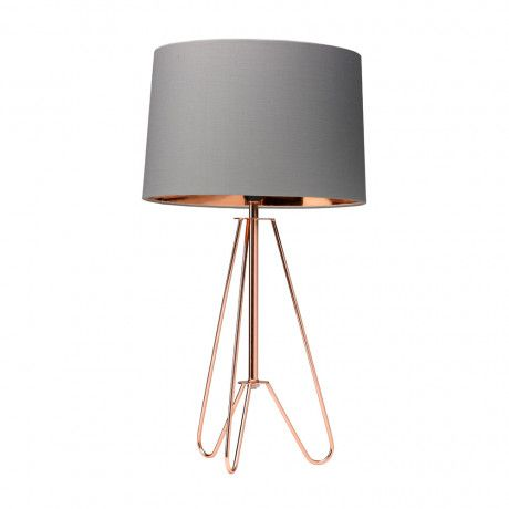 Village At Home Ziggy Copper U0026 Grey 1 Light Table Lamp | HOME2450