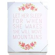 Let Her Sleep Canvas Wall Art 16 X 20 With Images Wall Art Art Canvas Wall Art
