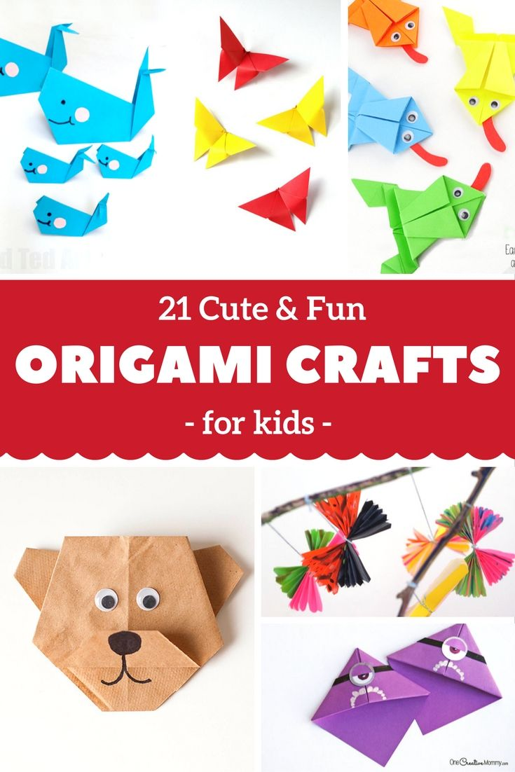 Origami For Kids 21 Cute And Fun Origami Crafts For Kids Origami Crafts Kids Origami Fun Origami Crafts
