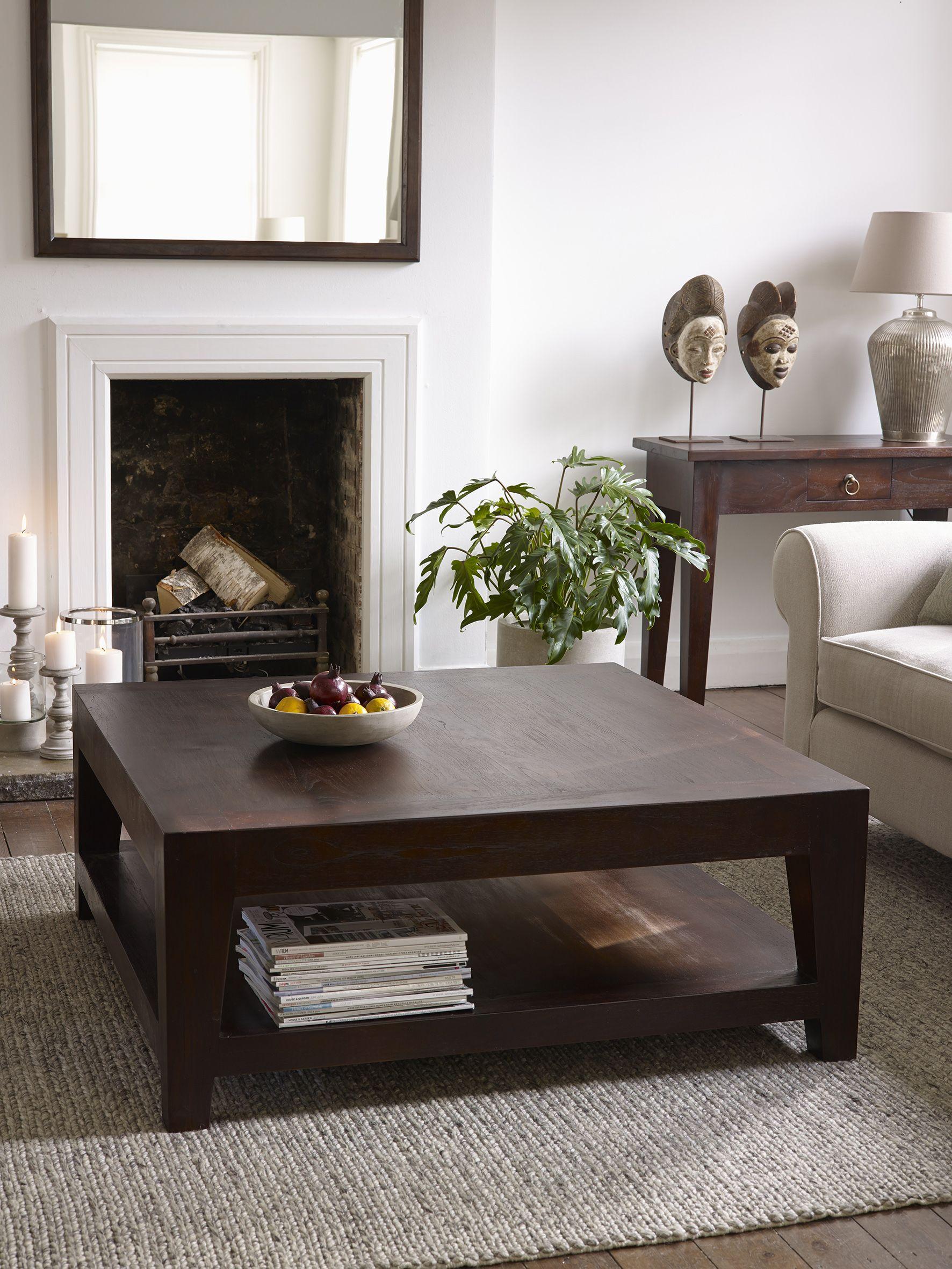Seba Dark Brown Square Coffee Table Coffee Table Furniture Lombok Furniture