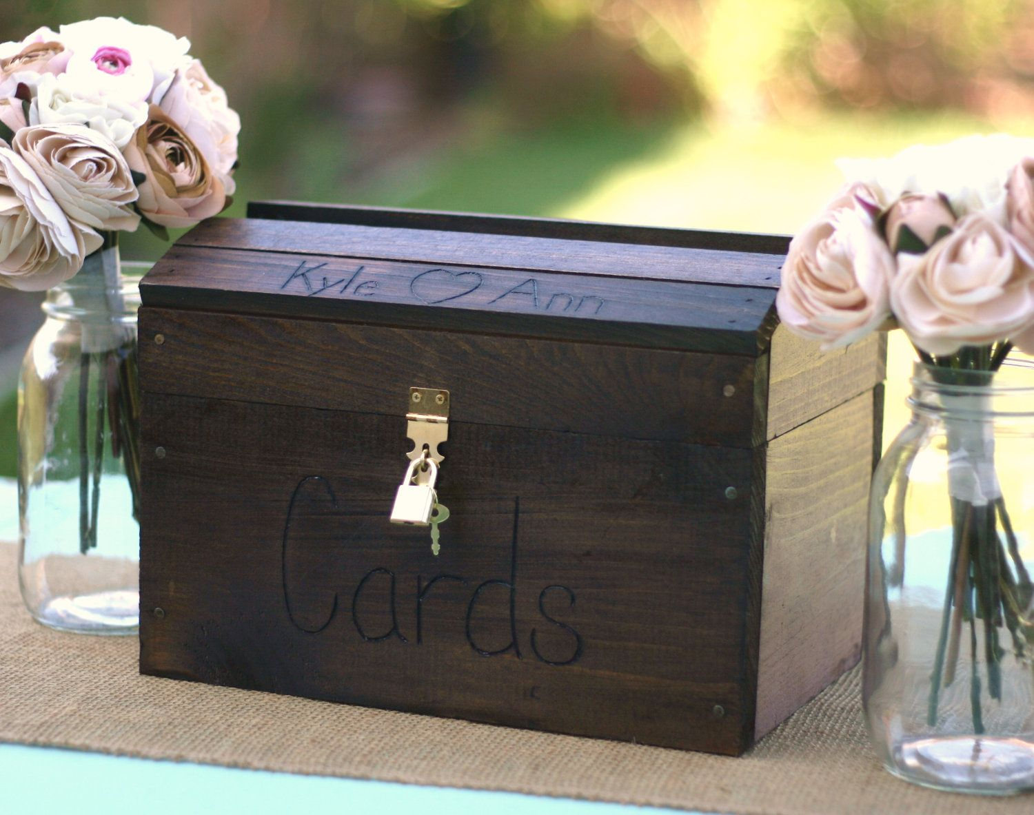 10 images about Wedding Card Box – Wedding Treasure Chest Card Box