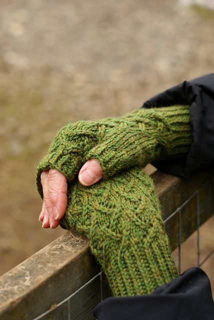 Ravelry: DanceswithSheep's Cafe au Lait Mitts- free knitting pattern